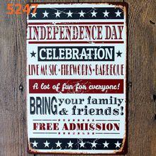 Family Rules Vintage Metal Signs Wall Pub Home Art Retro Coffee Decoration Poster A-5247
