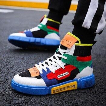 De Zapatos Transpirables Deporte Zapatillas Hombres Los Hip Hop qP7RxE 55a20882f7c
