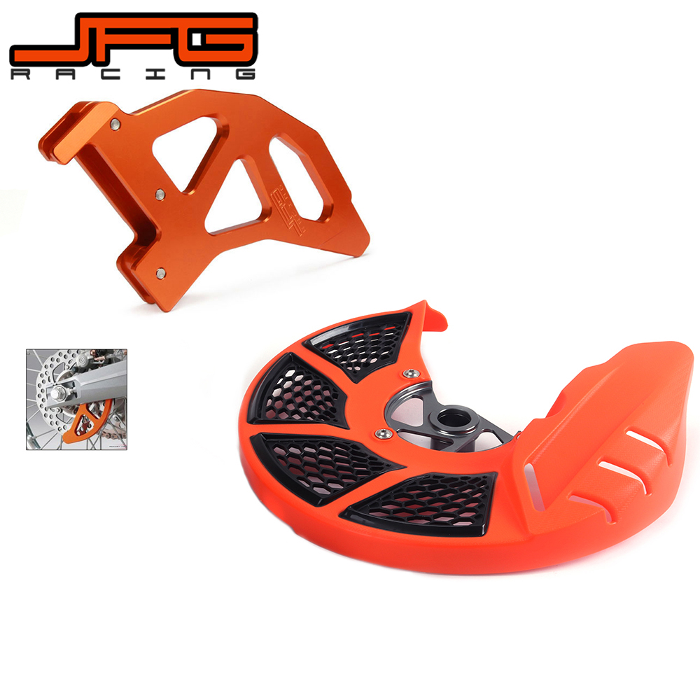 цена A Set Front & Rear Brake Disc Rotor Guard Protective Cover For KTM SX EXC XC SXF EXC-F 530 525 505 500 450 400 350 300 250 125