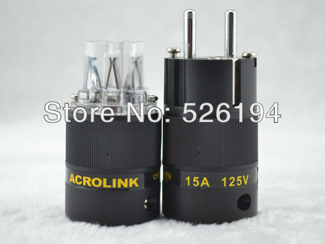 Free shipping one pair Acrolink FP 03Eu CRYO Audio Power Plug connectors power Adapter IEC plug