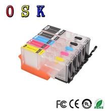 OSK  5pcs Refillable ink cartridge PGI-670XL CLI-671XL PGI-670 CLI-671 for Canon PIXMA MG5760 MG6860 TS6060 TS5060 стоимость