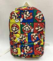 Super mario brothers red zaino canvas shoulder bag 13