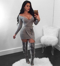 Women Bandage Dress 2018 Long Sleeve Summer New Arrivals Sexy Deep v Neck Vestido Bodycon Bandage Dress Club Party CM124