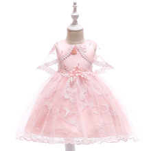 2019 Summer Party Princess Dress Girl Clothes Wedding Costume Kids Dresses For Girls Bridesmaid Tutu Dress Elegant 8 9 10 Years