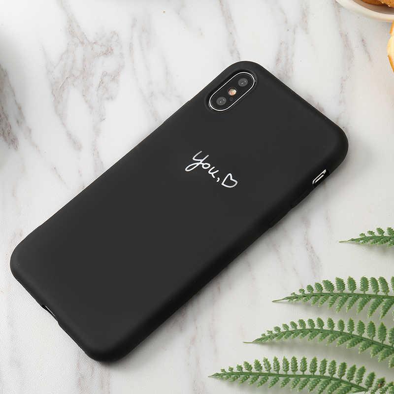 "Amor coração macio silicone tpu caso para iphone x xs max xr 6 6 s 5 5S se 7 plus capa traseira para iphone 11 2019 5.8 ""6.1"" 6.5 ""capa"