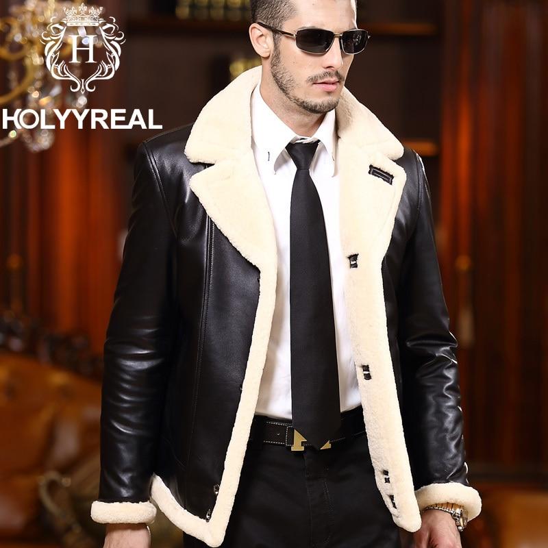2014 New Men's Brand Genuine Sheepskin Shearling Jacket Fashion ...