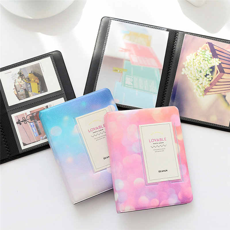 64 Pockets 3 Inch Starry Sky Photo Book Album For Fujifilm Instax Mini Films Album Instax Mini 9 8 7s 90 70 25 Name Card Holder