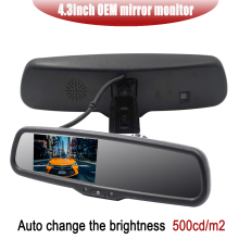 Hot Sale 4.3 Inch OEM Car Mirror Monitor LCD Screen Car Rear View Mirror Parking Monitor Parking Assistance For Car Rear Camera liislee for seat ibiza st 6j 2009 2017 3 in1 special rear view wifi camera wireless receiver mirror monitor diy parking system