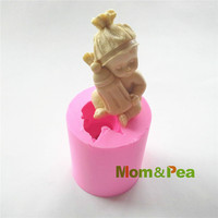 Mom Pea 0506 Baby Boy Milk Bottle Shaped Silicone Mold Cake Decoration Fondant Cake 3D Mold