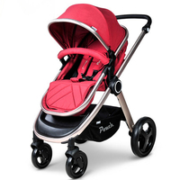 Pouch Baby Stroller high landscape song baby car baby cart children can sit and lie four wheel folding portable