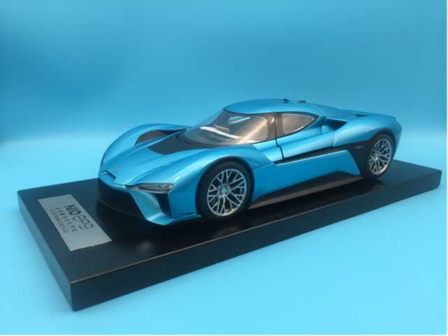 1:18 Diecast Model For Weilai NIO EP9 Blue (Retracted Rear Wing) Electric Sport Car Alloy Toy Car Miniature China Brand