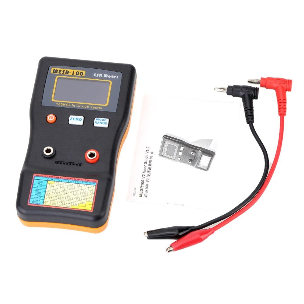 MESR-100 compteur de capacité ESR Ohm mètre testeur de Circuit de condensateur de résistance de capacité de mesure professionnelle