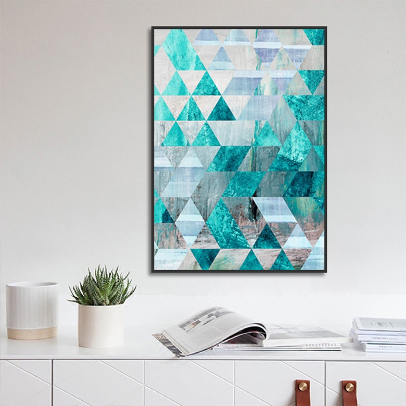 Nordic Poster Geometric Abstract Turquoise Decorative Painting Canvas Art Modern Home Decoration Living Room Wall Pictures in Painting Calligraphy from Home Garden