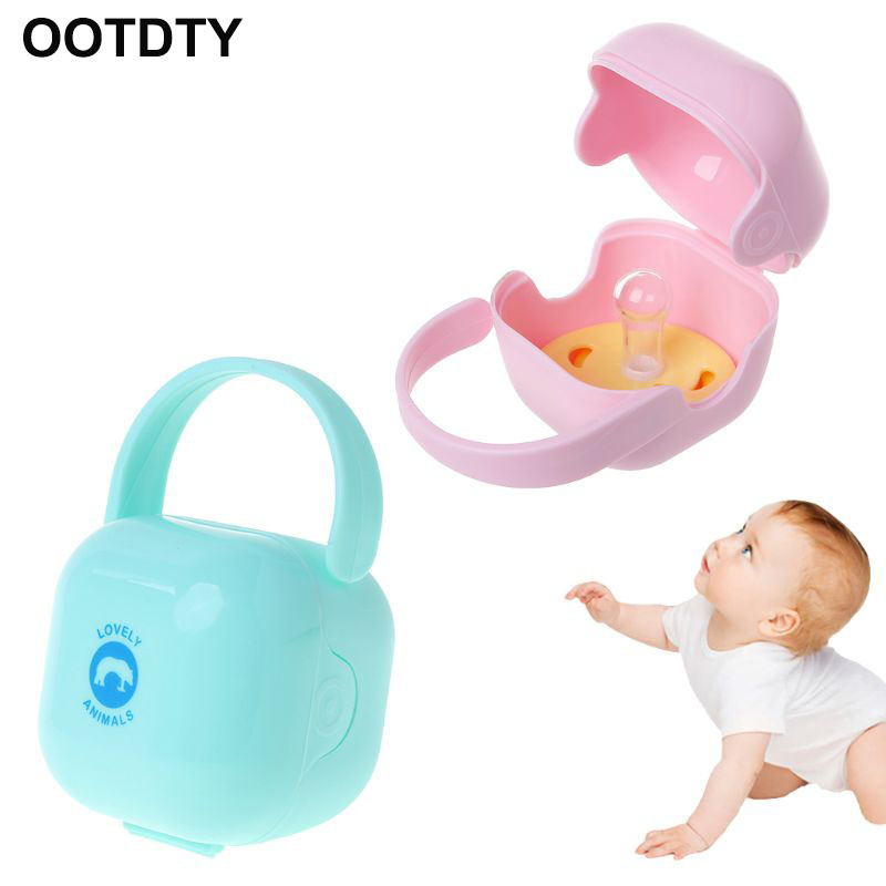 Kids Infant Soother Portable Container Pacifier Dummy Travel Storage Case New