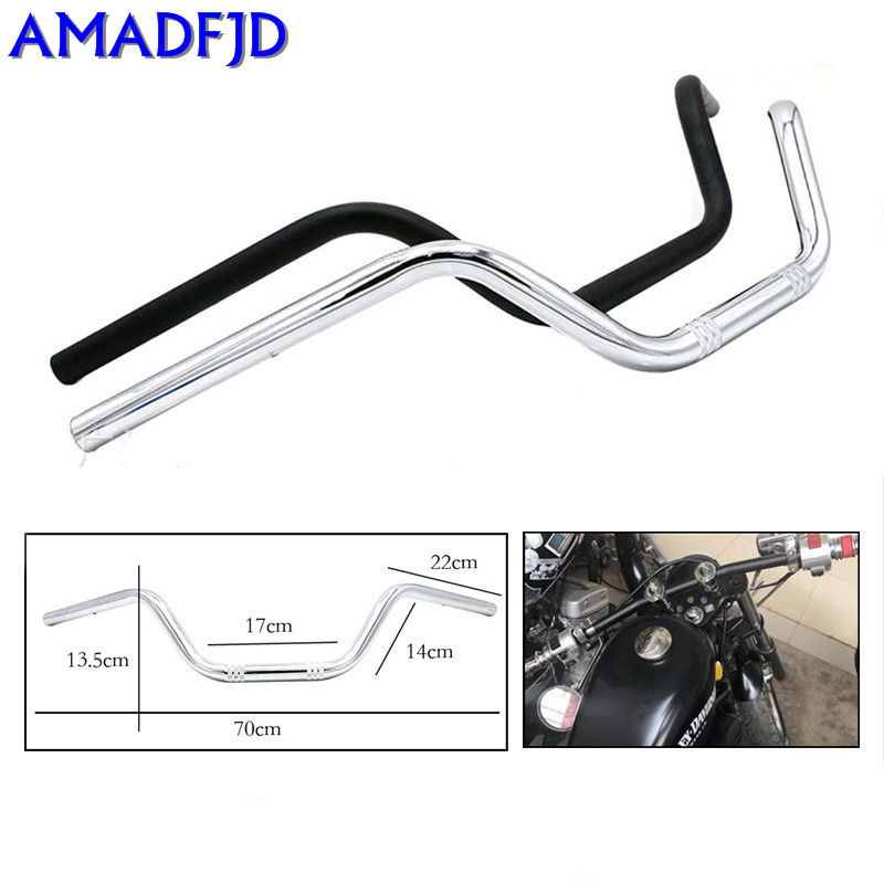 Retro 22MM Motorcycle Motorcycle Fittings for the direction of the handle bar CG125 modified handlebar 125 gw250 modified standard ordinary version of motorcycle modified split handlebar plus height code increase the code
