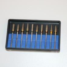 10pcs/set Dental Lab HP Sintered Diamond Burs Polisher 2.35mm Rotary Shank Polishing Bur Kit Set Dremel Tools Accessory