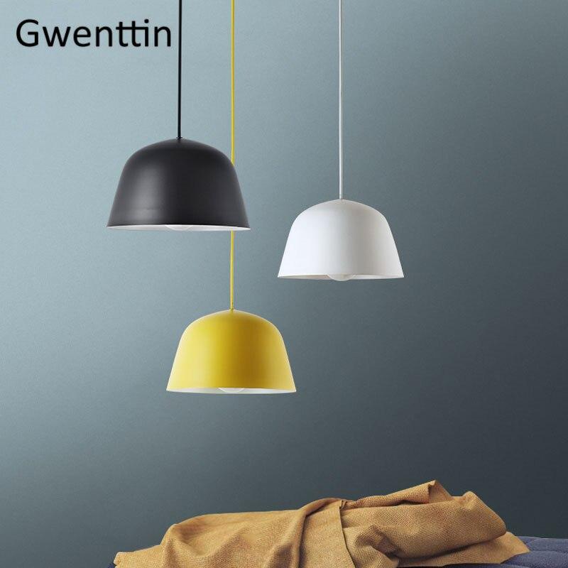 Pendentif LED moderne allume lampe suspendue en aluminium nordique pour cuisine chambre luminaires Luminaire maison Loft décor industriel