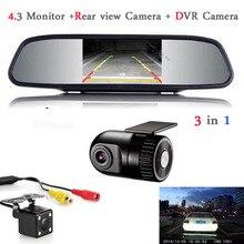 Зеркало Монитор автомобиля TFT ЖК-Дисплей Автомобильный ВИДЕОРЕГИСТРАТОР Камера Даш Cam скрытые Рекордер Автомобиля DVR с камеры заднего вида с монитором Парковка