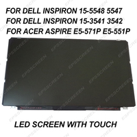 B156XTT01.1 LCD PANEL for DELL Inspiron 15 5548 5547 15 3541 3542 15.6 for Acer Aspire E5 571P E5 LED TOUCH SCREEN +DIGITIZER