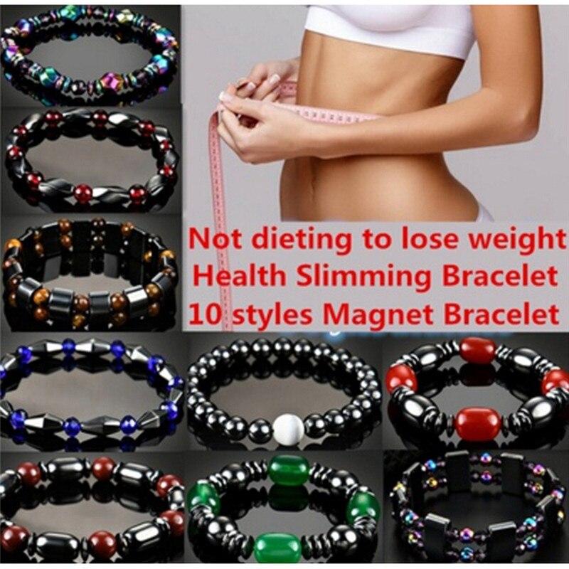 Magnetic Hematite Slimming Bracelet For Women Black 55mm Magnetite Malachite Crystal Healing Bracelet Bangle
