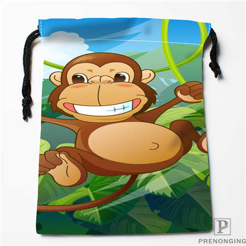 Custom Printing Monkey 1 Drawstring Shopping Bags Travel Storage Pouch Swim Hiking Toy Bag Unisex Multi Size18-12-31-07 Comfortable And Easy To Wear