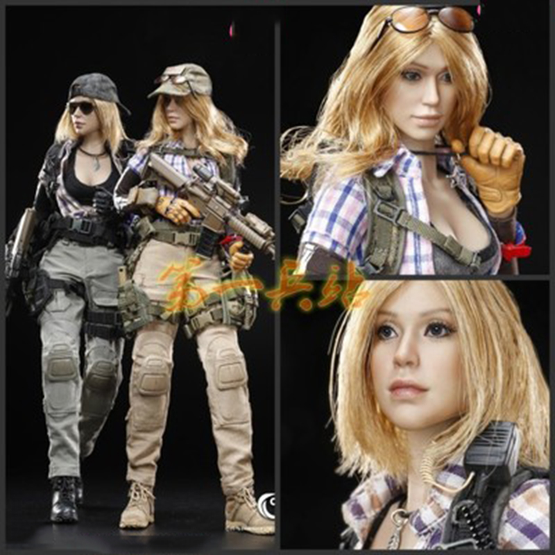 1/6 Scale Combat Girl Series Zona and Vicky Whole Box Action FIgures Collections Toys