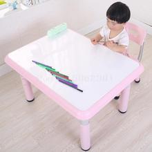 Детские столы и стулья для детского сада, пластиковые столы и стулья, игры для еды, Рисование граффити, можно поднимать детский стол для обучения
