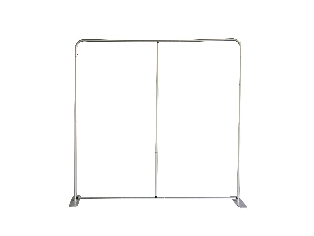 custom portable aluminum frame with center pole for photobooth backdrop
