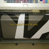 Black White Grey Dazzle Jumbo Camouflage Vinyl Wrapping Film Car Body Bubble Free For JEEP SUV