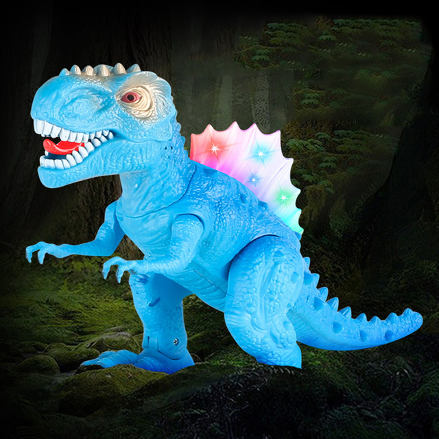 2018 New Electric toy large size walking dinosaur robot With Light Sound Tyrannosaurus Rex kids toys Christmas Good Gifts