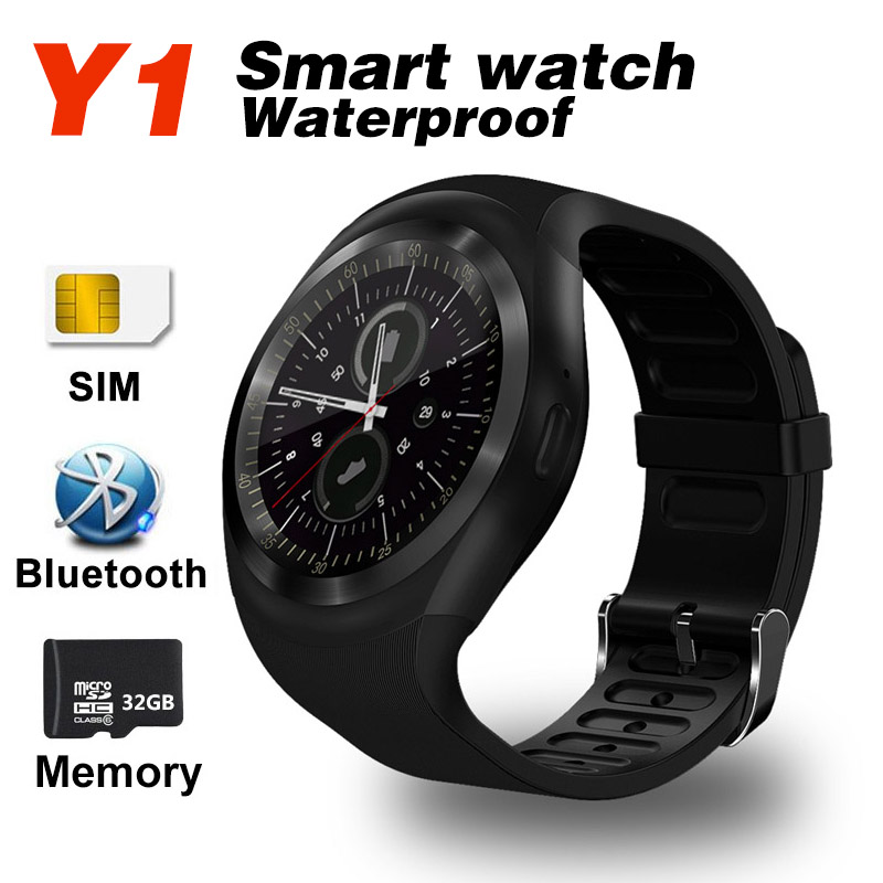 Smart Watch Y1 Bluetooth Mobile phone Smartwatch SIM TF Sports Band Sleep Monitor Tracker for IOS Android Smart Wristband Band2