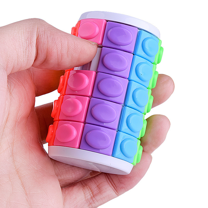 Yooap Children's Intellectual Color Creative Magic Tower  Baby Toys Decompression Finger Cube Square Puzzle Suitable Relax TOY