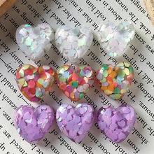 5 Pcs Sweety Cinta Payet Bros Cincin Patch Temuan Resin Hiasan DIY Anting-Anting Hati Cabochon Bead Kerajinan Dekorasi Perhiasan Membuat f62(China)