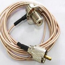 SO239 UHF Женский правый угол к длинной UHF PL259 штекер RG316 для автомобиля Мобильная радио антенна 1 м 3 м 5 м 10 м кабель