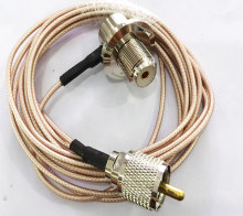 SO239 UHF Female Right Angle to Long UHF PL259 Male RG316 for Car Mobile Radio Antenna 1m 3m 5m 10m Cable