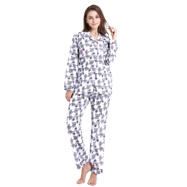 338b211252 Tony Candice Women Pajamas 100% Cotton pijamas Winter Pajama Sets Women  Soft Sleepwear For Girl Causal Long Sleeve Nightgown