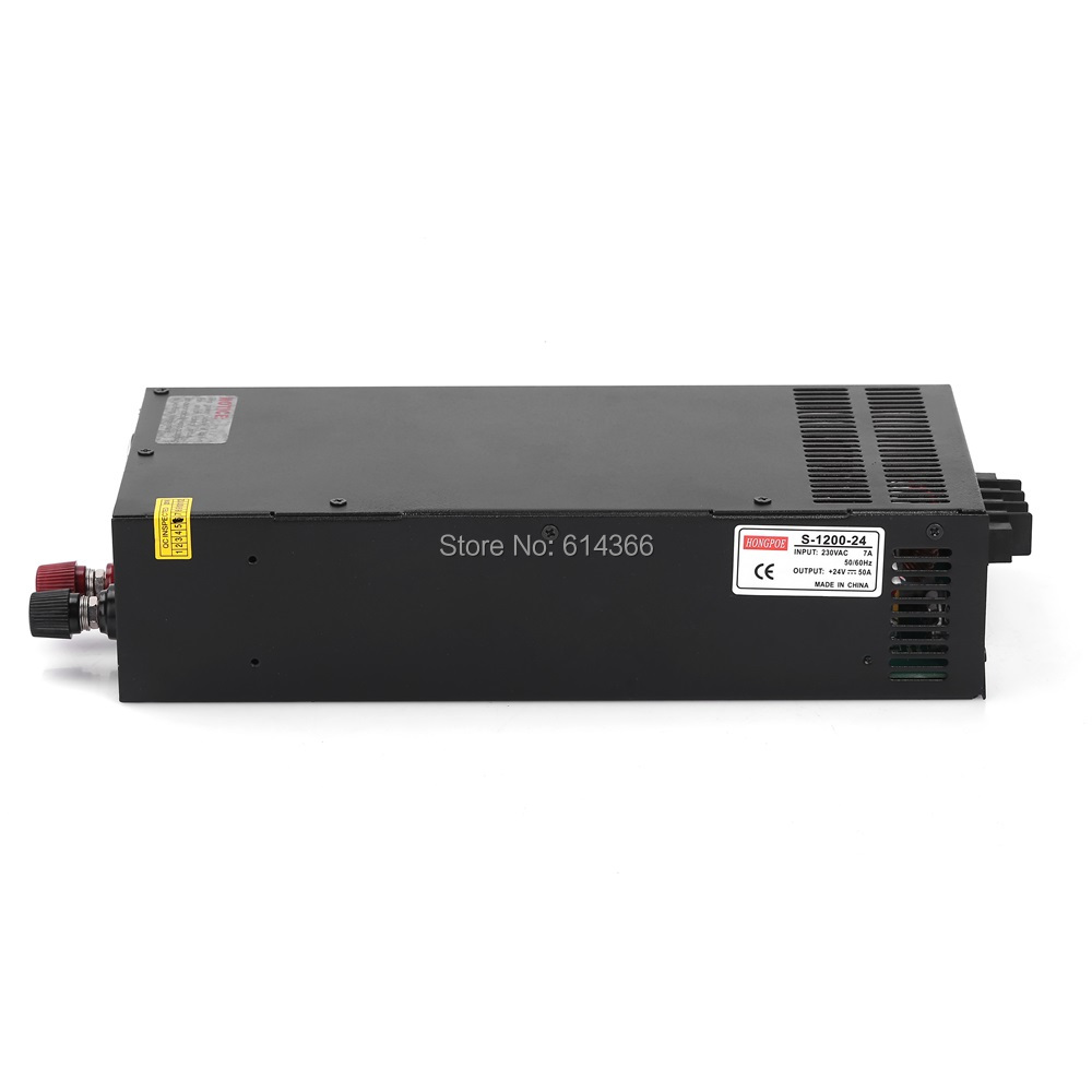 1PCS 1200W 24V 50A power supply 24V50A adjustable power AC-DC High-Power PSU 1200W DC24V 1pcs 1200w 24v power supply 24v 50a ac dc high power psu 1200w 230v s 1200 24 24v50a
