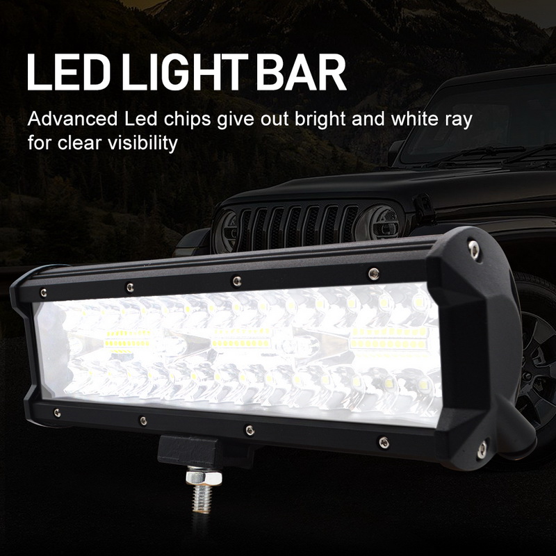 Image 5 - Safego 7 inch 120W offroad led light bar 5 9 12 17 20 inch 84W 180W 240W 360W 384 led Work Light  Car 4WD Truck 4x4 SUV ATV 12V-in Light Bar/Work Light from Automobiles & Motorcycles