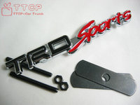 Free Shipping TRDsports TRD Sports 3D Grill Badge Emblem Black Red Color Car Sticker