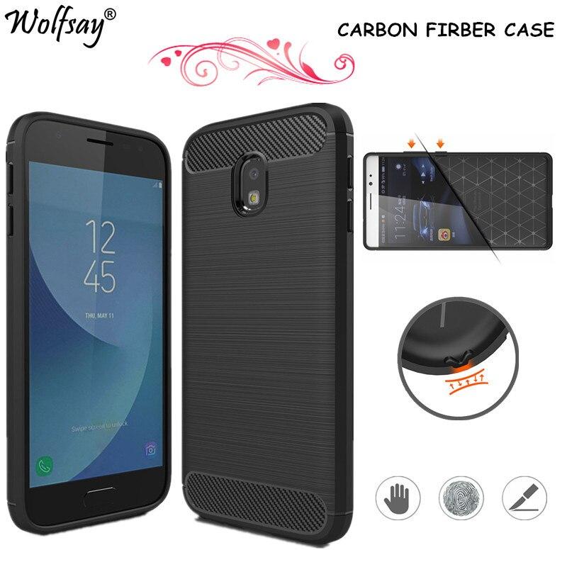 Galleria fotografica Wolfsay sFor Phone Cover Samsung Galaxy J3 2017 Case J330 Rubber Silicone Soft Case For Samsung Galaxy J3 2017 Case Fundas Shell
