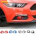 HANGUP ABS Автомобильная передняя фара противотуманная декоративная крышка наклейки аксессуары для Ford Mustang 2015 автомобильный Стайлинг