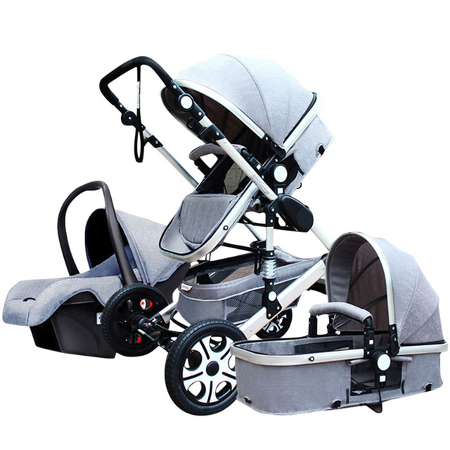 Baby Stroller 3 in 1 With Car Seat High Landscope Folding Baby Carriage For Child From 0-3 Years Prams For Newborns  1