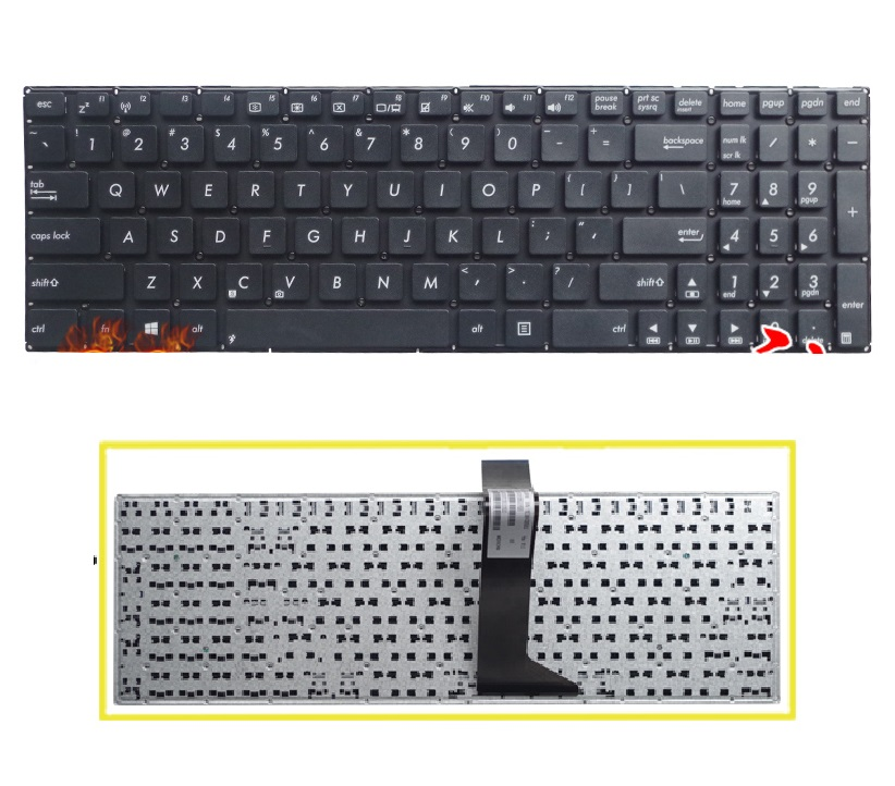 SSEA New laptop US Keyboard without frame For ASUS X550 X550C X550CA X550CC X550CL X550LA X550LB X550LC X550LD X550VB X550VC