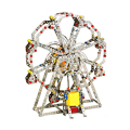 929 unids metal luces de sonido de música de piano eléctrico giratorio noria diy metal bloques de construcción para niños juguetes