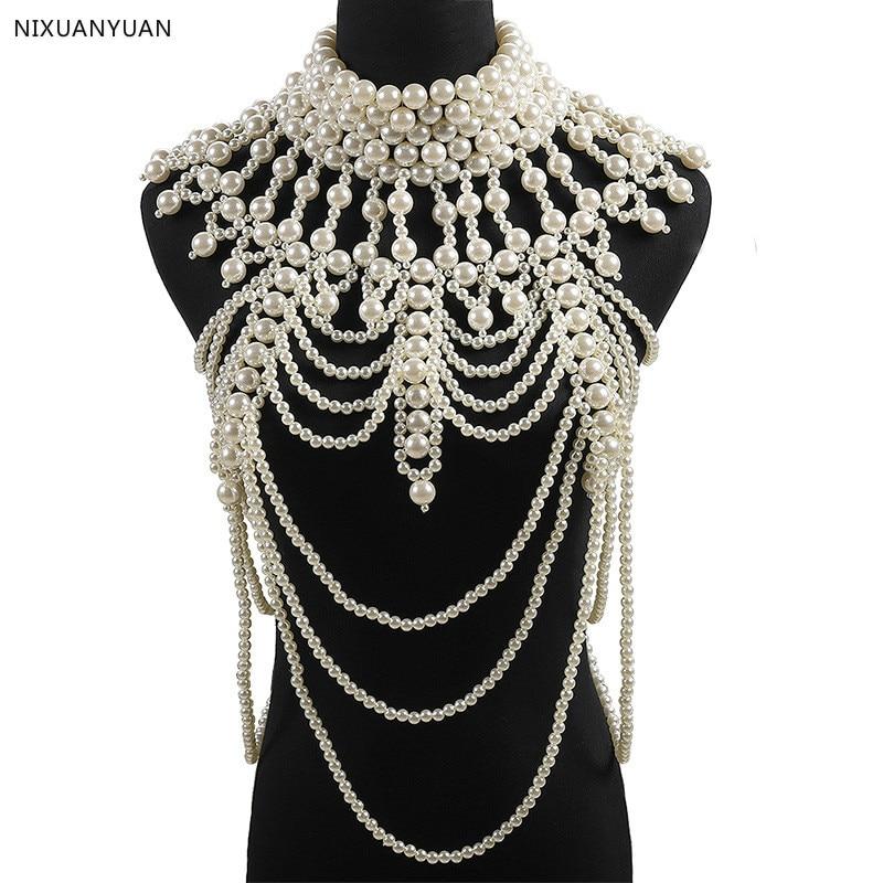 Wedding Bolero Luxury Short Beading Pearl Crystals Wedding Wrap Jacket For Evening Prom Fashion Women Accessories