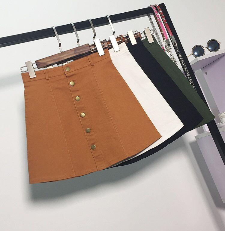 HTB1WYhXMFXXXXXiXFXXq6xXFXXXf - American Apparel button Denim Skirt JKP265