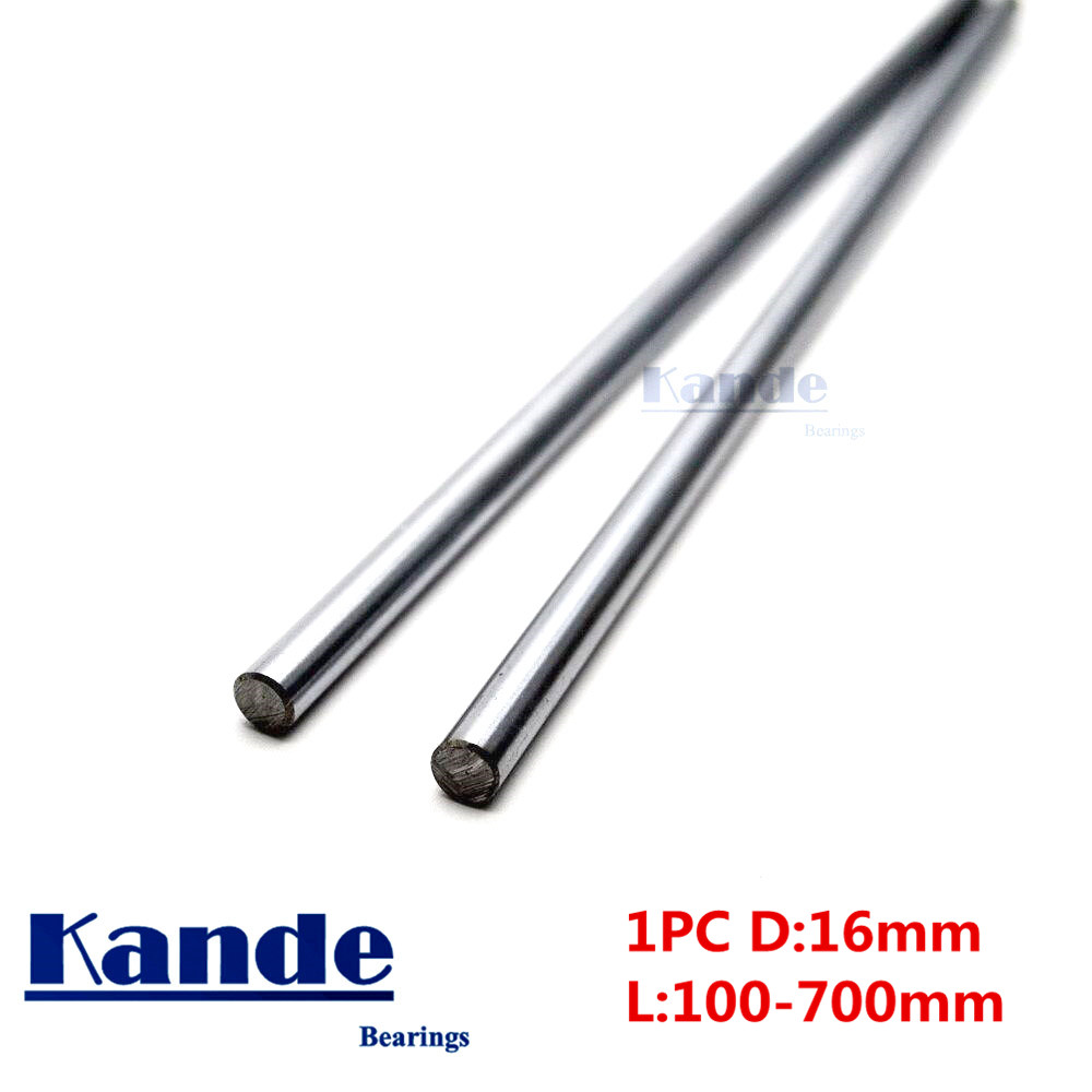 цены Kande Bearings 1pc d:16mm 3D printer rod shaft 16mm linear shaft 230mm chrome plated rod shaft CNC parts 100-700mm