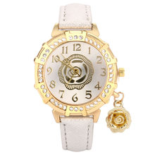 New Women Quartz Wrist Roses Tower Rhinestone Pendant Wrist Watch Reloj Mujer Womens Watches Top Brand Bayan Kol Saati Fashion(China)
