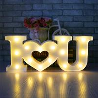 Love Light Sign Creative 3D I Love U Heart LOVE LED Night Light Marquee Sign Decoration Light for Valentine's Day