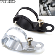 Fork Clamp Type Motorcycle Turn Signal Lamp Holder Light Mount Bracket For 30-45mm Front Harley Scooter